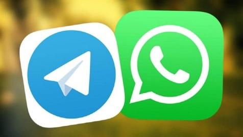 واتساپ+تلگرام